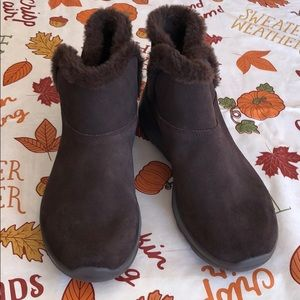 """Skechers """"Bundle Up"""" faux fur-lined ankle boot"""